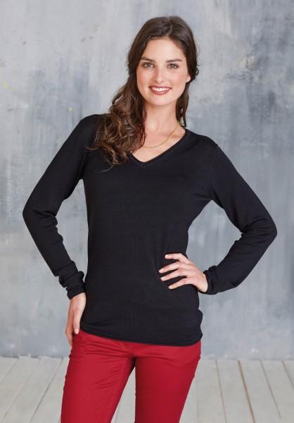 Damen V-Ausschnitt Pullover   Kariban